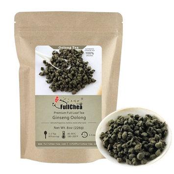 FullChea Ginseng Oolong Tea Loose Leaf, Organic Naturally Processed Lan Gui Ren, Unique Taste and Aroma Ren Shen Tea bulk 8oz / 226g