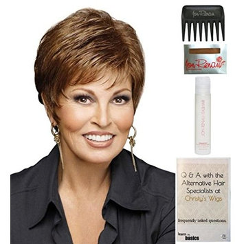 Whisper Wig by Raquel Welch, 15 Page Christy's Wigs Q & A Booklet, 2oz Travel Size Wig Shampoo, Wig Cap & Wide Tooth Comb COLOR SELECTED: R511G