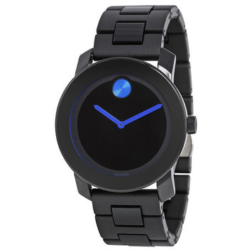Movado Bold 42 mm Black Dial TR90/Polyurethane Stainless Steel Mens Watch 3600099