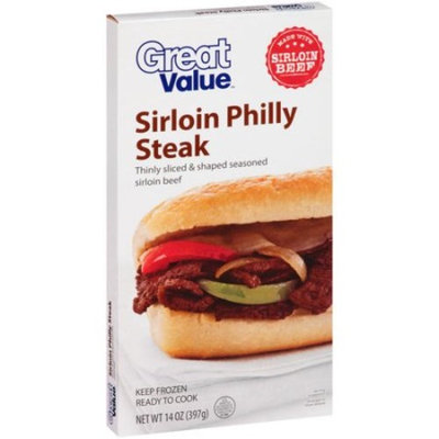 Great Value Sirloin Philly Steak, 14 oz