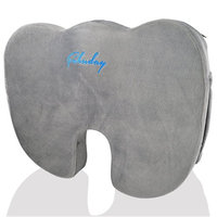 Coccyx Orthopedic Memory Foam Seat Cushion for Office Chair, Car, Wheel Chair and Bleachers, with Handle Anti-Slip Bottom. Relief from Back, Sciatica, Tailbone and Hemorrhoids Pain