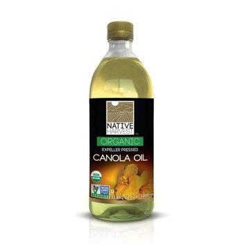 Native Harvest Organic Non-GMO Naturally Expeller Pressed Canola Oil, 1 Litre (33.8 FL OZ)