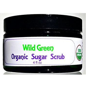 Flowersong Wild Green Organic Sugar Scrub - Soften, Moisturize and Exfoliate in One Step