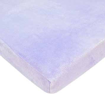 American Baby Company Heavenly Soft Chenille Bassinet Sheet - Lavender - 2 Pack