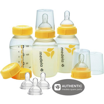 Medela 5 Oz Breastmilk Bottle Set with 6 Wide Base Nipples