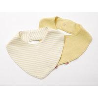 Agabang giggle Organic Cotton Baby Banada Bib Heathered Yellow 2-Pack