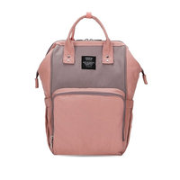 GUGER Waterproof Baby Diaper Backpack With Insulated Pockets, Large Capacity Nappy Bags For Baby Care (pink)
