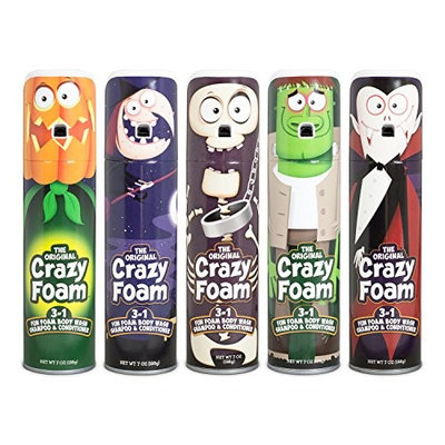 Crazy Foam Monster 5 pack: Dracula, Witch, Skeleton, Frankenstein, Pumpkinhead