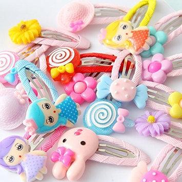 cuhair 10 pieces cartoon flower girl hair clip Hair Accessories Hairpins hair Barrettes hair claw