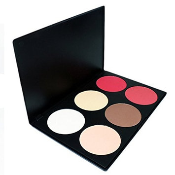 Amazing2015 Professional 6 Color Makeup Cosmetic Blush Blusher Contour Powder Palette