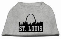 Mirage Pet Products 5174 XXLGY St Louis Skyline Screen Print Shirt Grey XXL 18