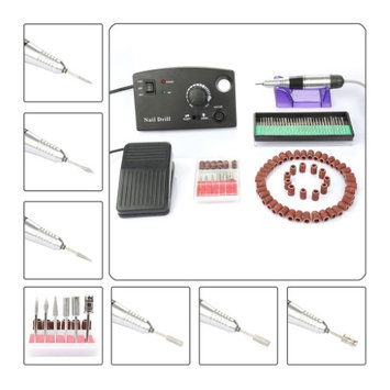 Besmall Newest 20000 RPM Electric Drill Nail Set Kit Fast Machine Manicure Pedicure Acrylics Gel Polish Professional Salon Nail Machine