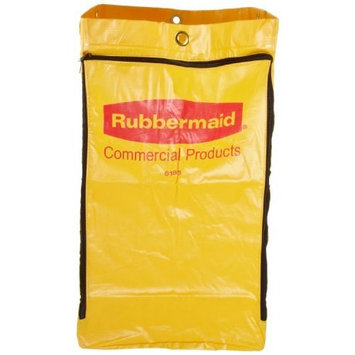 Rubbermaid FG618300 Vinyl Replacement Bag with Zipper for Cleaning Cart, 17.25