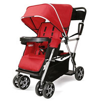 Double Stroller Convenience Urban Twin Carriage Stroller - Cynebaby Tandem Collapsible Stroller All Terrain Double Pushchair for Toddler Girls and Boys Stable Stroller Frame with Bag Organizer