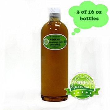 Dr. Adorable - 100% Pure Neem Oil Organic Unrefined Cold Pressed Natural - 48 oz
