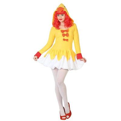 ATOSA 26816 - sexy Chicken, Misses 'Costume [Gelb/Weiss, 34/36 (EU)]