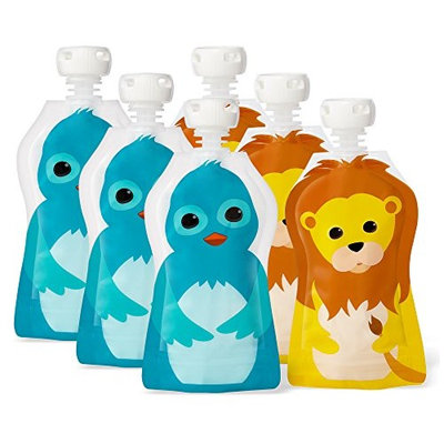 Squooshi Reusable Food Pouch - Small 6 Pack