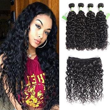 Brazilian Human Hair Water Wave Bundles 8A Grade Natural Black Can Be Dyed & Bleached 3 Bundles