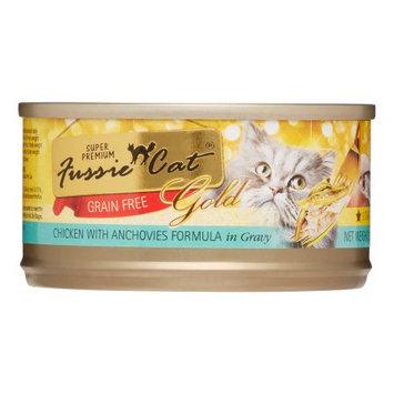 Fussie Cat Chicken w/ Anchov Gold Label 2.8 oz Case 24