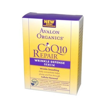 Avalon Organics CoQ10 Wrinkle Defense Serum, .55 -Ounce Bottle