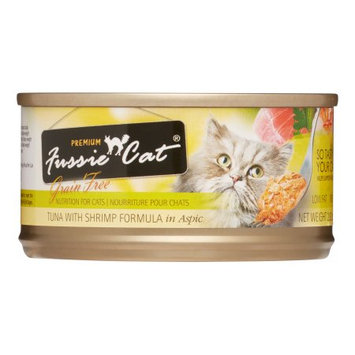 Mojetto Fussie Cat Premium Tuna with Shrimp Canned Cat Food - 24x2.8oz
