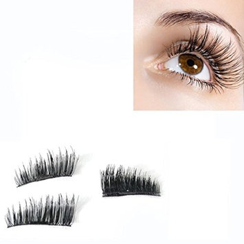 Magnetic False Eyelashes,Elevin(TM)4PCs Women Ladies NEW Ultra-thin 0.2mm Magnetic Eye Lashes 3D Reusable False Magnet Eyelashes Extension
