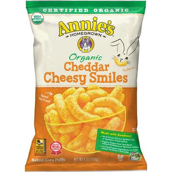 Annie's Cheesy Baked Corn Puffs, Organic Cheddar, 4 oz