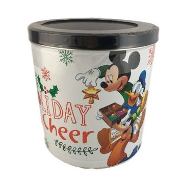 Mickey Minnie Cars Popcorn Tin with 3 Flavors - Caramel, White Cheddar Cheese and Butter in Specialty Popcorn Container 7 Oz