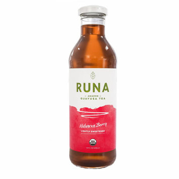 Runa Guayusa Bottled Tea Lightly Sweetened Hibiscus Berry 14 Ounce Glass Bottle Pack of 12