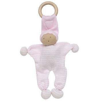 Under The Nile Organics Baby Buddy Teething Toy - Pale Pink Stripe