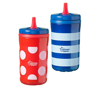 Tommee Tippee TOMMEE TIPPE 2PK 12OZ FREE FLOW INSULATED SPOUT CUP