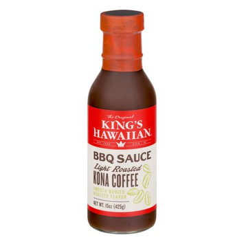 King's Hawaiian Bakery West, Inc. King's Hawaiian BBQ Sauce Light Roasted Kona Coffee, 15.0 OZ