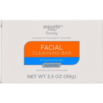 Equate Beauty Facial Cleansing Bar for Acne Prone Skin, 3.5 oz