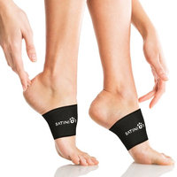 Satinior Arch Support, 2 Plantar Fasciitis Sleeves/ Braces for Heel Spurs and Flat Feet, Stop Arch Pain, Relieve Pain in Feet
