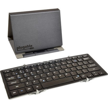 Plugable Technologies BT-KEY3XL Bluetooth Folding Keyboard Xl Wrls Full Size W/ Protective Case