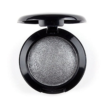 Mallofusa Single Color Baked Eye Shadow Palette Glitter Powder ,Space Silver,CES3811