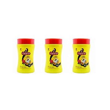 Meera Herbal Hairwash Powder With 7 Natural Herbs - 120g (4.23 oz) - Pack of 3