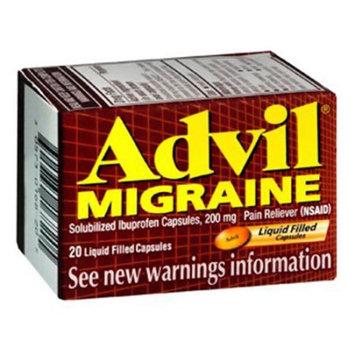 Advil Migraine Liqui-Gels 200Mg Capsules Ibuprofen For Pain And Fever - 80 Ea
