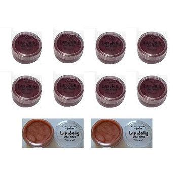 (Pack of 8) - MIX set of Jordana InColor Lip Jelly Juicy Tints, 01 Berry Wine & Butterscotch - 0.17 oz/5g : Beauty