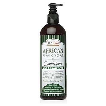 Shea Terra African Black Soap Natural Conditioner for Oily Hair and Scalp Care