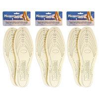 Alltopbargains 3 Pair Memory Foam Insoles Shoe Comfort Unisex Size Cushion Feet Pad Heel Shock