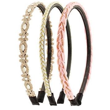 Capelli New York Ladies Mixed Designs Headbands Light Pink