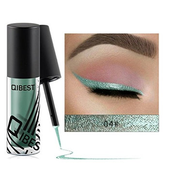 YOYORI 10 Colors Metallic Shiny Smoky Eyes Eyeshadow Long-lasting,Water-tight and Waterproof Glitter Liquid Eyeliner