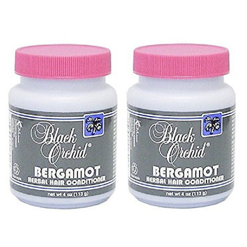 Black Orchid Bergamot Herbal Hair Conditioner, 4 oz (Pack of 2) + FREE Curad Bandages, 8 Ct.