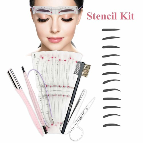 Eyebrow Stencil,8 Styles Eyebrow Shapes DIY Grooming Stencil Kit Shaping Templates,Eyebrow Stencils Reusable Eyebrow Drawing Guide Card Brow Shaping Template DIY Easy Makeup Tools Eyebrow Razor