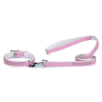 East Side Collection Sparkle Gemstone 1/2-Inch Dog Leash Pink 4'