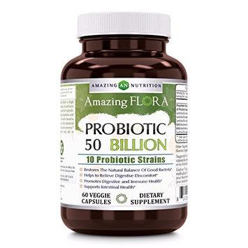 Amazing Flora Probiotic - 50 Billion, 60 Veggie Capsules