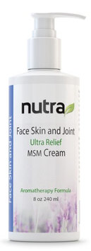 Face, Skin & Joint Ultra Relief Cream with Pump Nutra Research Intl 8 oz Cream