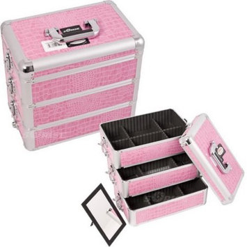Professional Cosmetic Makeup Case Color: Pink Crocodile