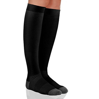 Compression Socks for Men and Women. Medical Graduated Compression 15-20 mmgh. Moderate Support Stockings, Great for Nurse, Pregnancy, Athletic, Running, Flight Travel, Shin Splint Recovery.
